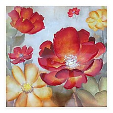 Wall Art Red floral & botanical wall art - bed bath & beyond