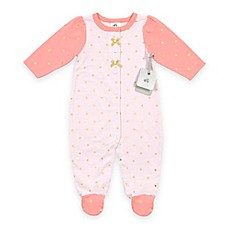 image of Just Born® Sparkle Sleep and Play Footie in Pink