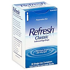 image of Refresh® 50-Count Classic Lubricant Eye Drops