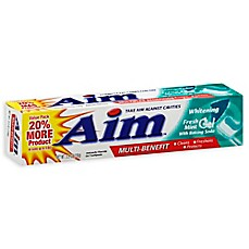 image of Aim® 5.5 oz. Anticavity Fluoride Gel Whitening Toothpaste with Baking Soda in Fresh Mint