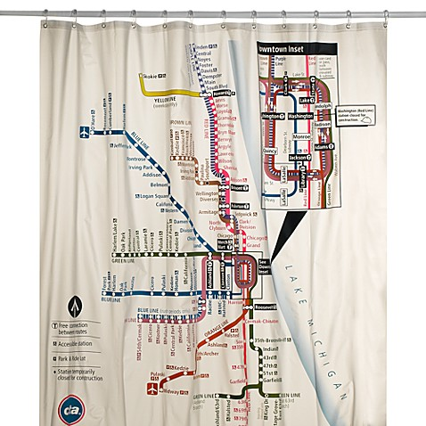 map shower curtain chicago cta map vinyl shower curtain bed bath amp beyond 13310