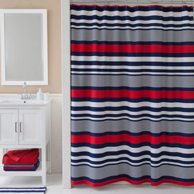 IZODreg Varsity Stripe Shower Curtain