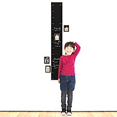 image of Wallies Peel & Stick Chalkboard Growth Chart