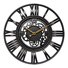 image of Infinity Instruments Roman Gear Rustic Iron Clock