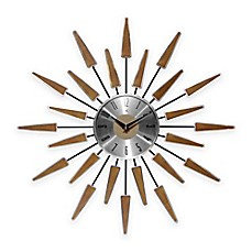 image of Infinity Instruments Mid-Century Modern Vintage Wall Clock