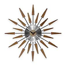 image of infinity instruments midcentury modern vintage wall clock