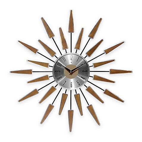 infinity instruments mid century modern vintage wall clock bed bath beyond. Black Bedroom Furniture Sets. Home Design Ideas