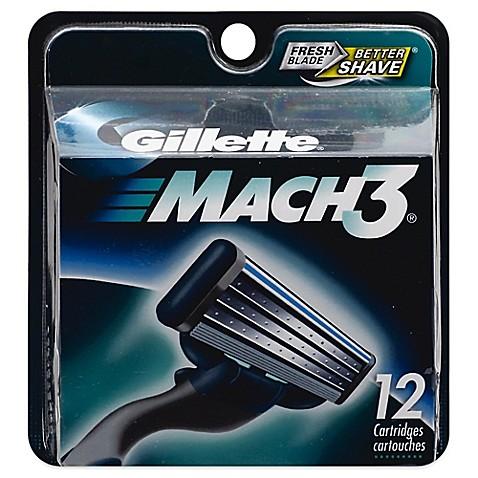 Gillette Mach3 Men S Razor Blade Refills 12 Count Bed