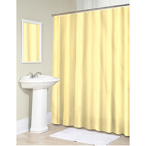Buy Vinyl 70 Inch X 71 Inch Shower Curtain Liner In Yellow From Bed Bath Amp