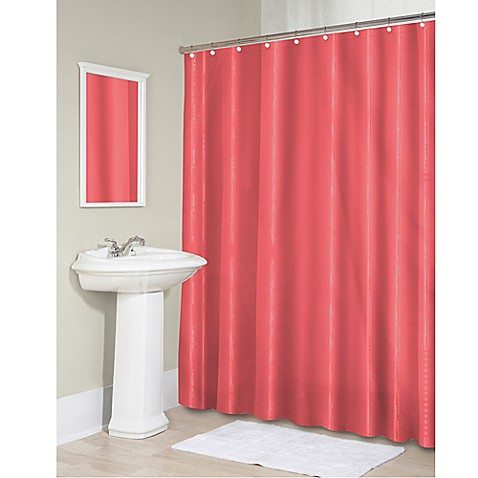 Buy Vinyl 70 Inch X 71 Inch Shower Curtain Liner In Coral From Bed Bath Beyond