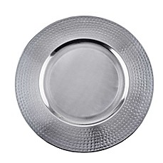 image of Old Dutch International Brushed Stainless Steel Charger Plates (Set of 4)