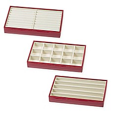 image of ampersand small jewelry tray collection in red