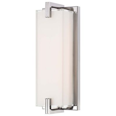 George Kovacs Wall Sconce Chrome : Buy George Kovacs Cubism LED Wall Sconce in Chrome with Glass Shade from Bed Bath & Beyond