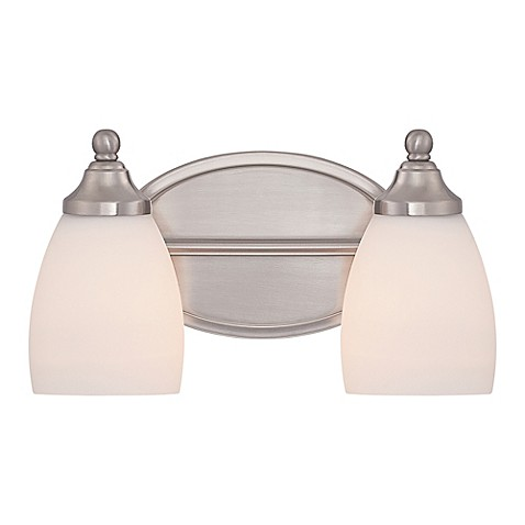 bathroom light fixtures brushed nickel finish buy gate 2 light bath fixture in brushed nickel 24901