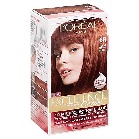 L 39 Oreal Reg Paris Excellence Crème Triple Protection Hair Color In 6r
