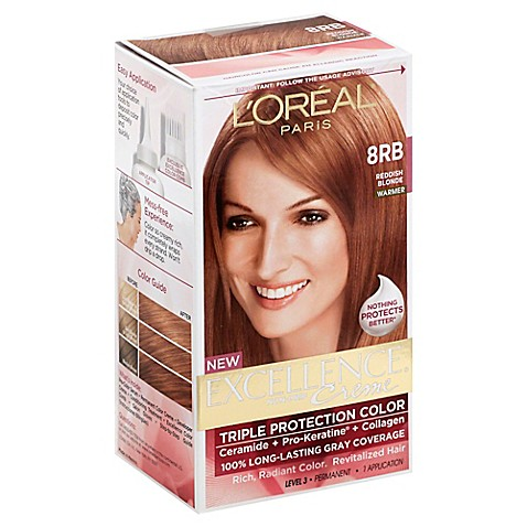 L 39 Oreal Reg Paris Excellence Crème Triple Protection Hair Color In 8rb