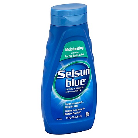 selsun blue 11 oz moisturizing dandruff shampoo with aloe for dry scalp and hair bed bath