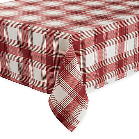 Buy Basics Tuscan Plaid 70 Inch Square Tablecloth From Bed