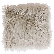 image of Thro Keller Faux Mongolian 26-Inch Square Throw Pillow