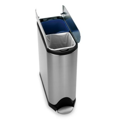 Recycling Trash Cans Dual Recycle Bins Bed Bath Beyond