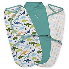 image of Summer Infant® Swaddle Me® Small 3-Piece Origami Dino Adjustable Infant Wrap Set