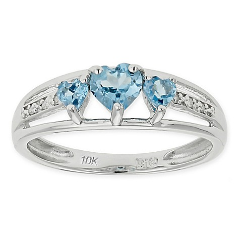 Cttw Heart Shaped Topaz Ring