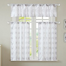 image of Coty Window Curtain Tier Pair and Valance