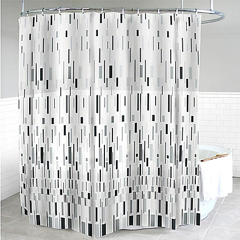 Splash Home Bars PEVA Shower Curtain in Grey - Bed Bath & Beyond