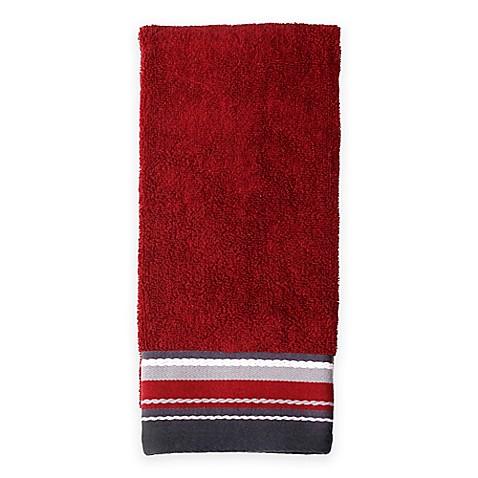 Buy Evan Stripe Hand Towel In Burgundy From Bed Bath Beyond