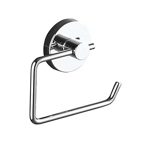 Wenko Milazzo Vacuum-Loc Wall Mount Toilet Paper Holder in Chrome ...