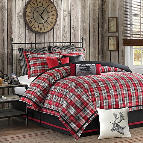 comforters bed comforter bath nautica buy plaid twin set charcoal beyond red in booker from
