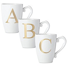 image of Lenox® Initially Mine Monogrammed Mug in Gold