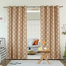 Decorinnovation Arrow Print Room Darkening Grommet Top Window Curtain Panel  Pair