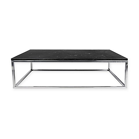 Buy Prairie Marble Coffee Table In Black Chrome From Bed Bath Beyond