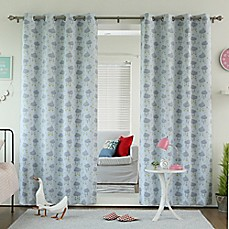 image of Decorinnovation CloudsRoom Darkening Grommet Top Window Curtain Panel Pair