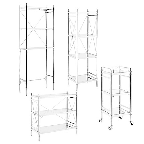Empire Bathroom Shelving Unit In Chrome Bed Bath Beyond