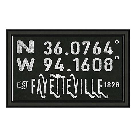 Fayetteville, Arkansas Coordinates Framed Wall Art