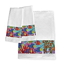 image of Laural Home® Fish in the Hood Bath Towel