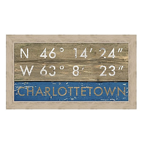 Charlottetown, Canada Coordinates Framed Giclee Print Wall Art