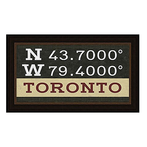 Toronto, Canada Coordinates Framed Giclee Print Wall Art