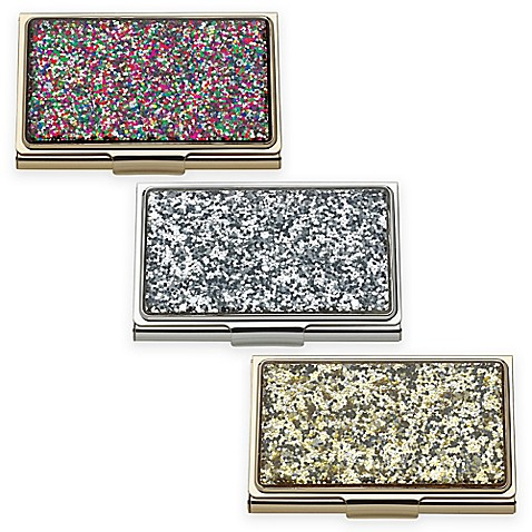 kate spade new york simply sparkling glitter card holder - Kate Spade Business Card Holder