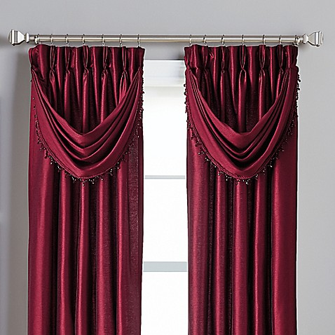 Buy Spellbound Pinch Pleat Crescent Valance In Bordeaux From Bed Bath Beyond