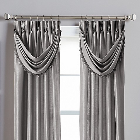 Buy Spellbound Pinch Pleat Crescent Valance In Pewter From Bed Bath Beyond