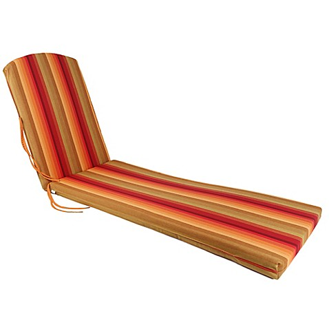 POLYWOOD® Outdoor Chaise Lounge Cushion in Sunset - Bed ...