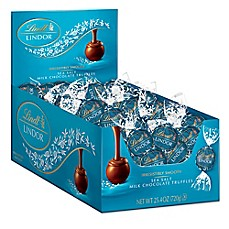 image of Lindt LINDOR Sea Salt Truffles 60-Count Box