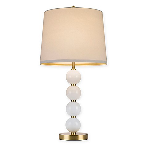 Cupcakes And Cashmere Stacked Ball Table Lamp With CFL Bulb