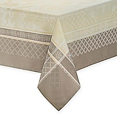 image of Waterford® Linens Wyman Tablecloth in Taupe