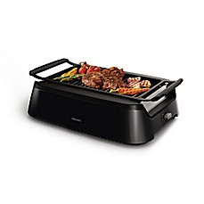 image of Philips Indoor Smokeless BBQ Grill in Black