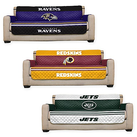 Nfl sofa cover bed bath beyond for Nfl furniture covers