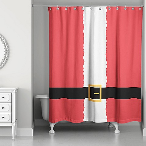 Santa Suit Shower Curtain In Red White Bed Bath Amp Beyond